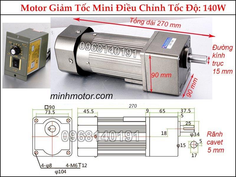 Bộ điều chỉnh tốc độ motor 220v mini