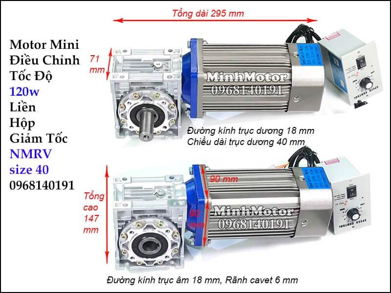 Bộ điều chỉnh tốc độ motor 220v hộp số RV
