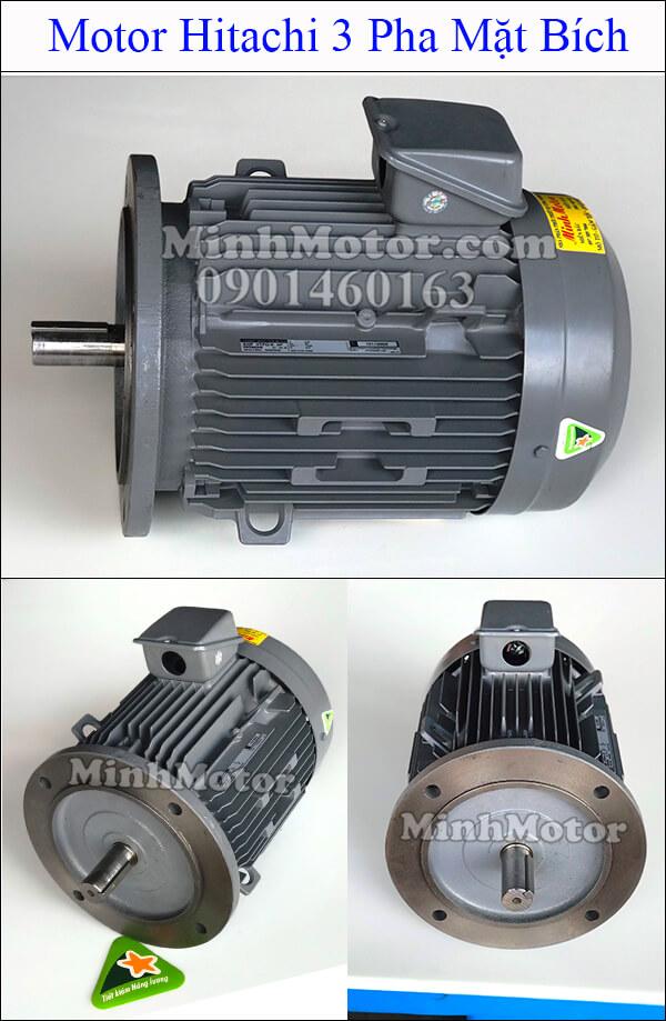Cấu tạo motor Hitachi 3 pha mặt bích