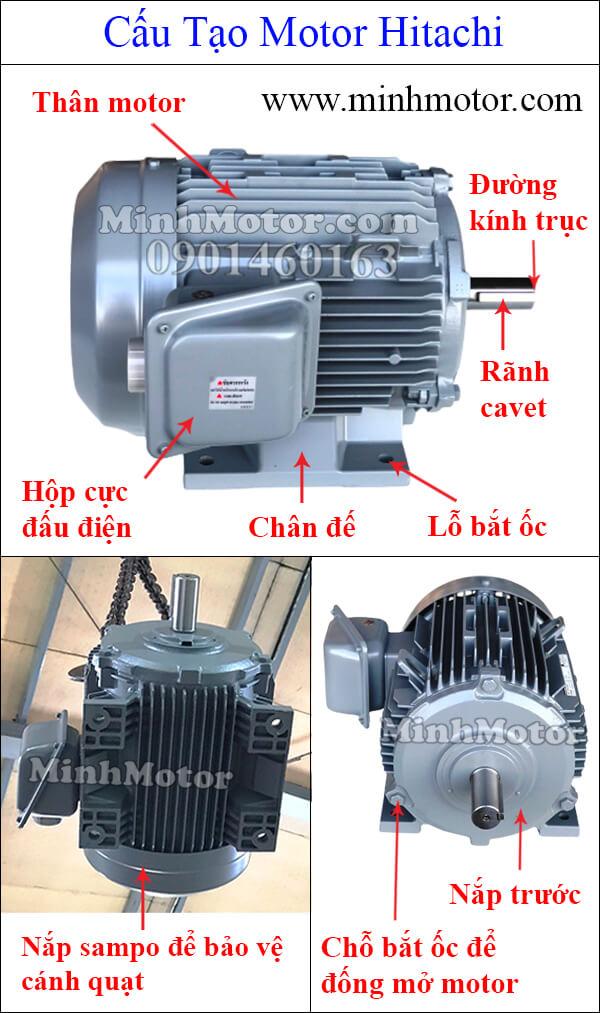 Cấu tạo motor Hitachi 3 pha