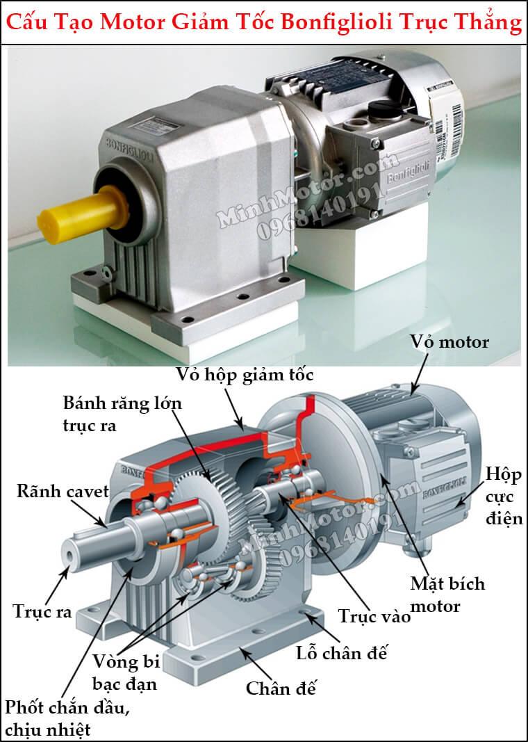 Motor giảm tốc Bonfiglioli trục thẳng