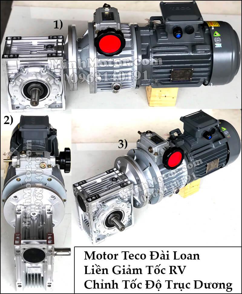Motor Teco Đài Loan liền giảm tốc RV chỉnh tốc độ trục dương