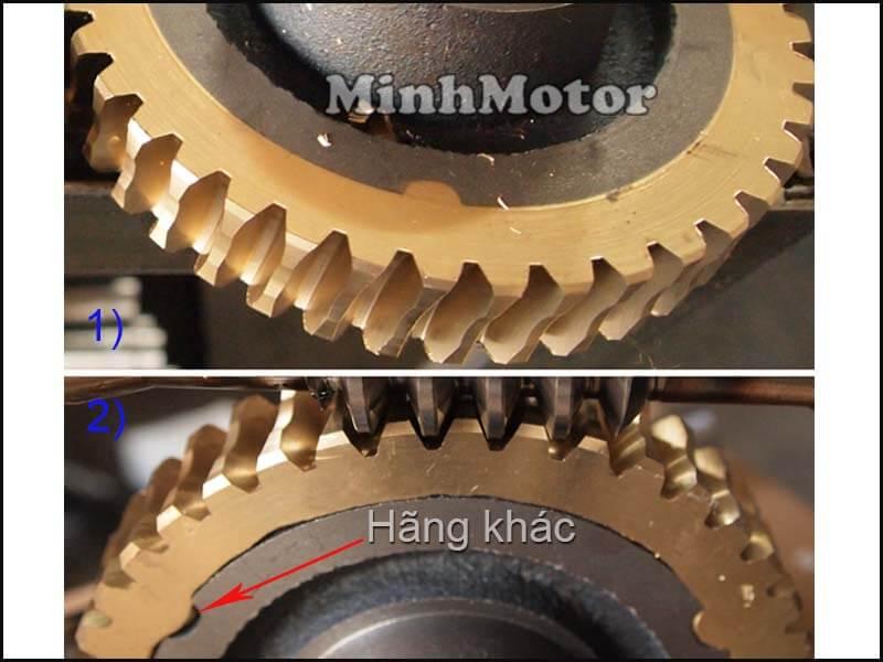 bánh răng của hộp giảm tốc trục vít