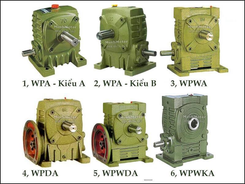 Các kiểu hộp giảm tốc WPA