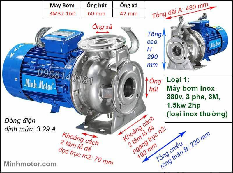 Máy bơm Inox 3M công nghệ Italy