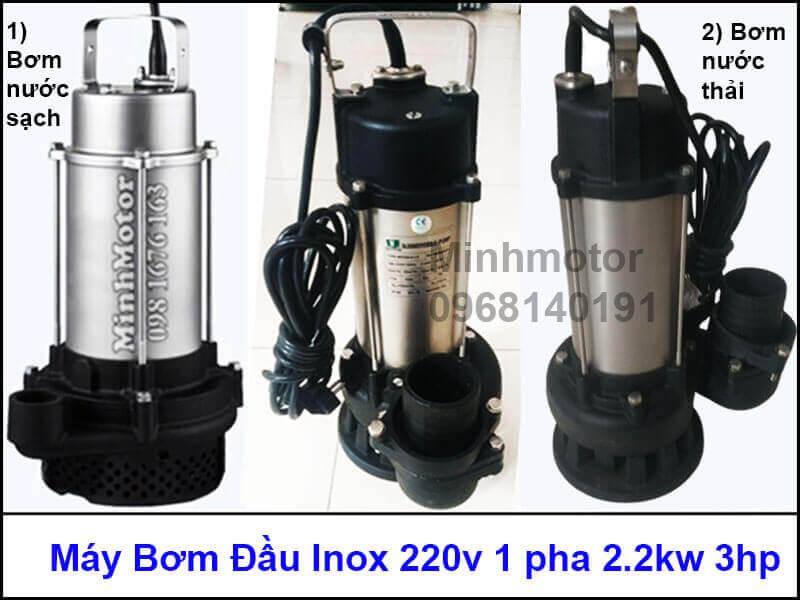 Máy bơm nước inox 220v 1 pha