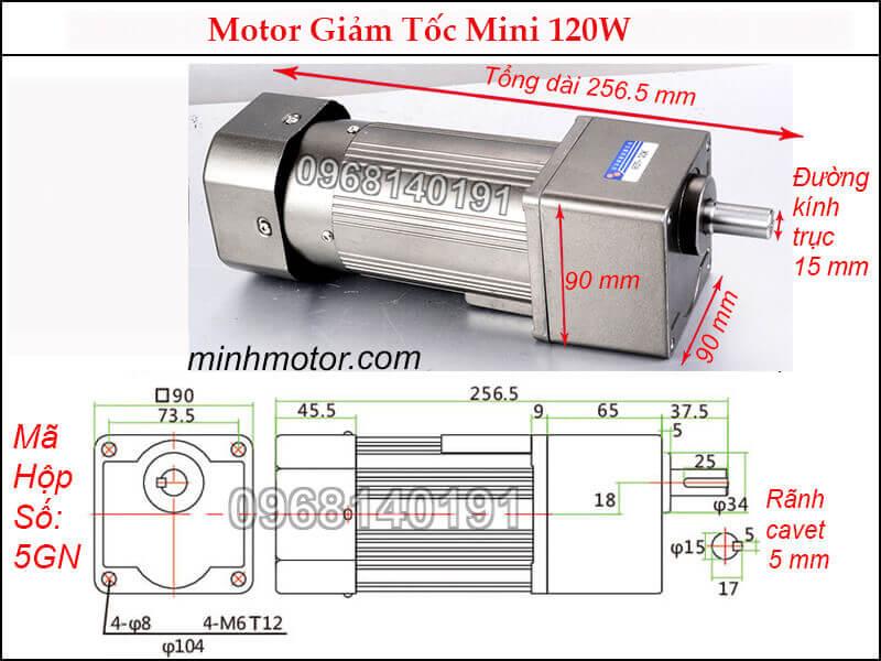 motor 3 pha mini IKR 120W