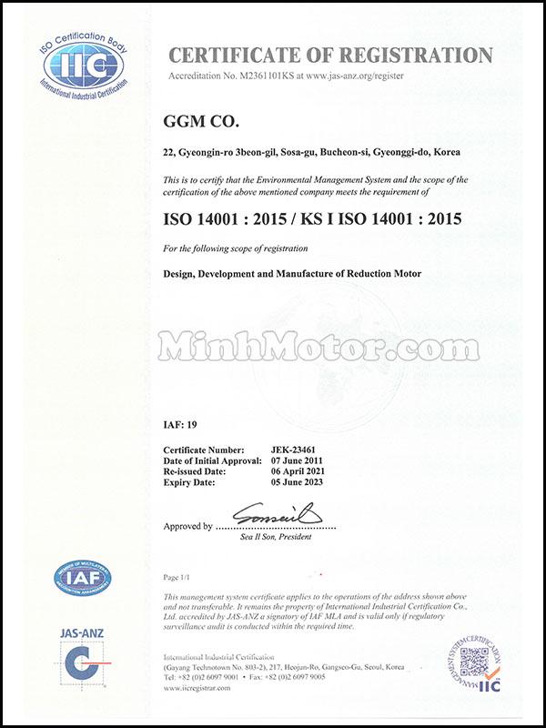 Chứng nhận cơ bản về đủ tiêu chuẩn sản xuất motor điện