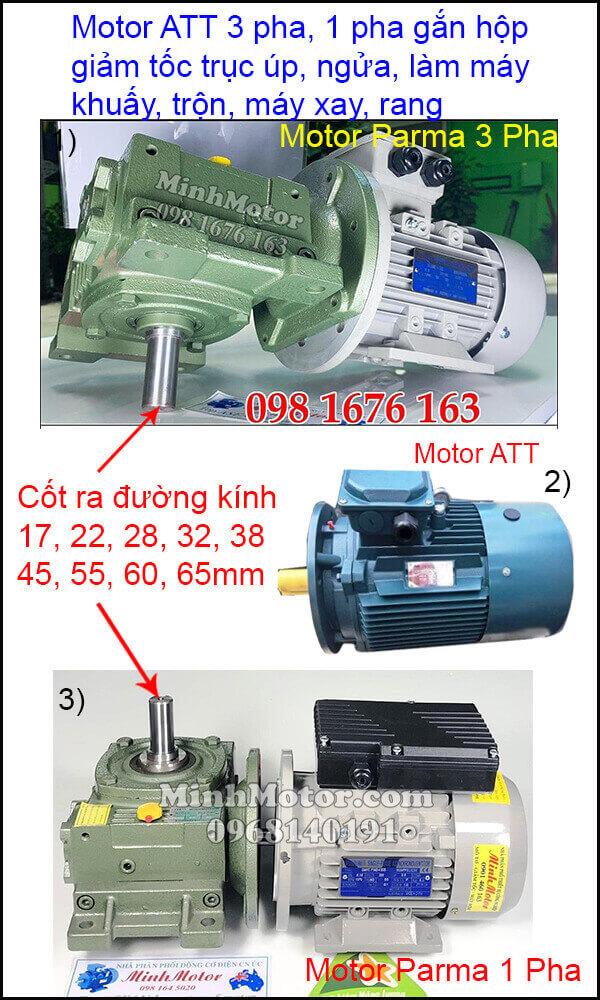 Lắp đặt động cơ ATT 3 pha 220v