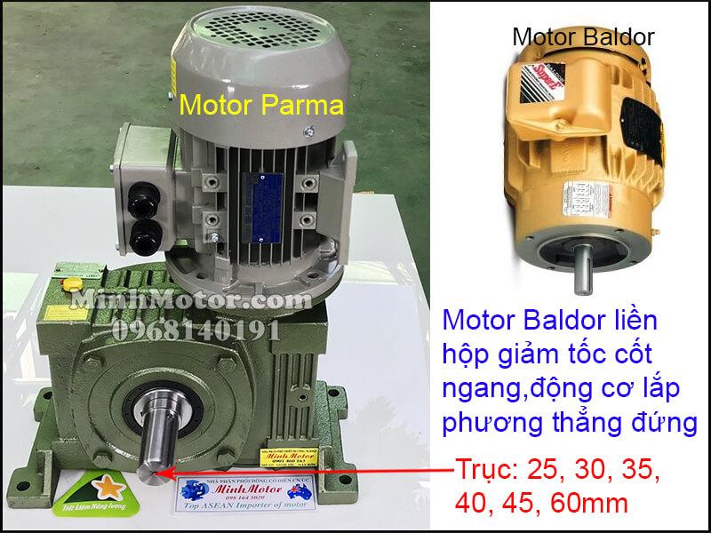 Lắp đặt động cơ Baldor 3 pha 220v