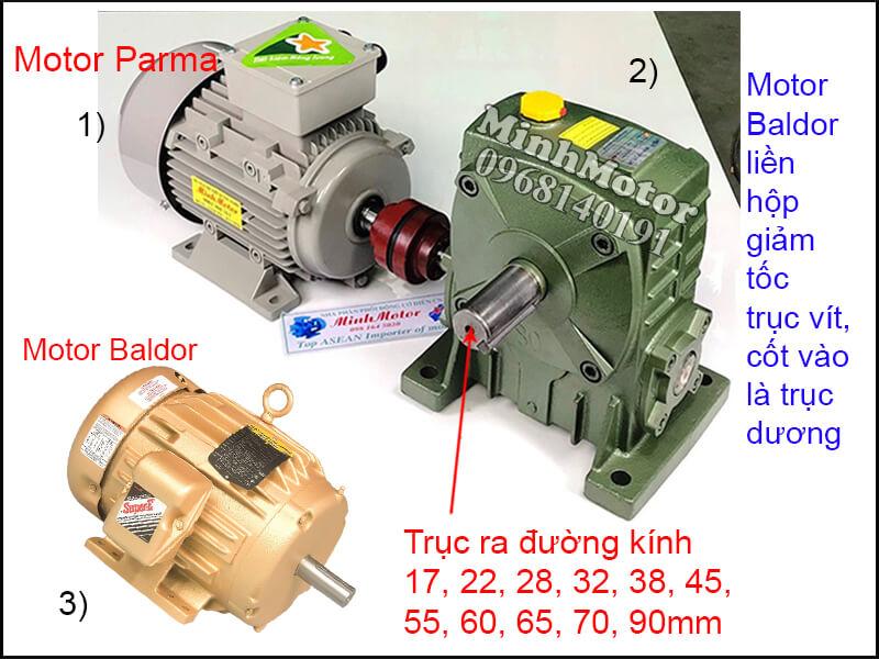 Motor Baldor chân đế lắp đặt bằng khớp nối