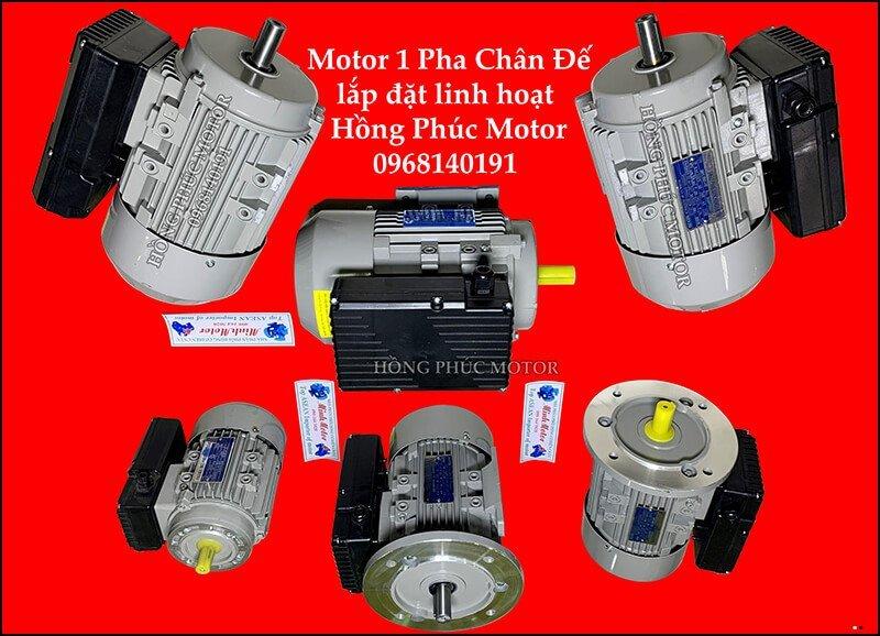 Motor điện 1 pha chân đế lắp đặt linh hoạt