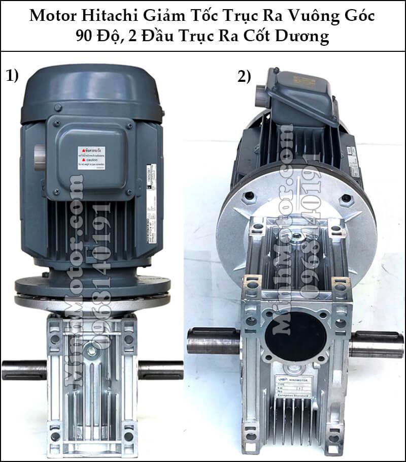 Động cơ điện Hitachi 2 đầu trục ra