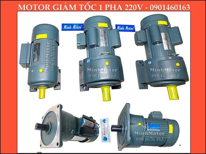 Motor 220v 1 pha hộp số