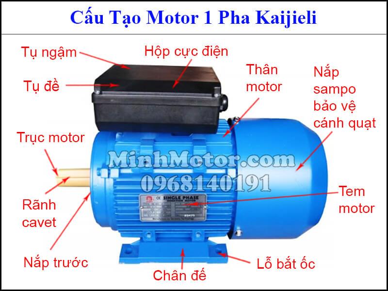 Cấu tạo motor Kaijieli 1 pha