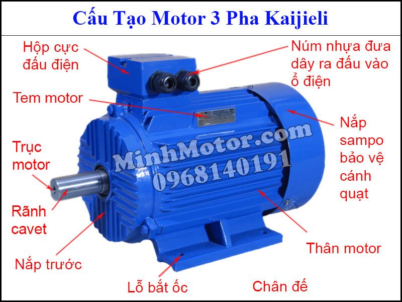 Cấu tạo motor Kaijieli 3 Pha