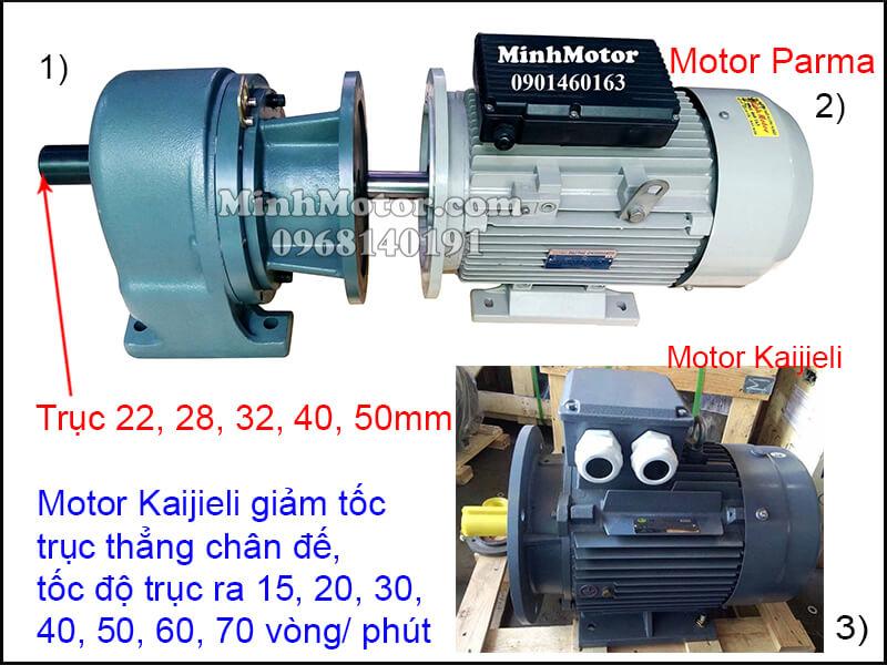 Motor Kaijieli chân đế gắn hộp số trục thẳng