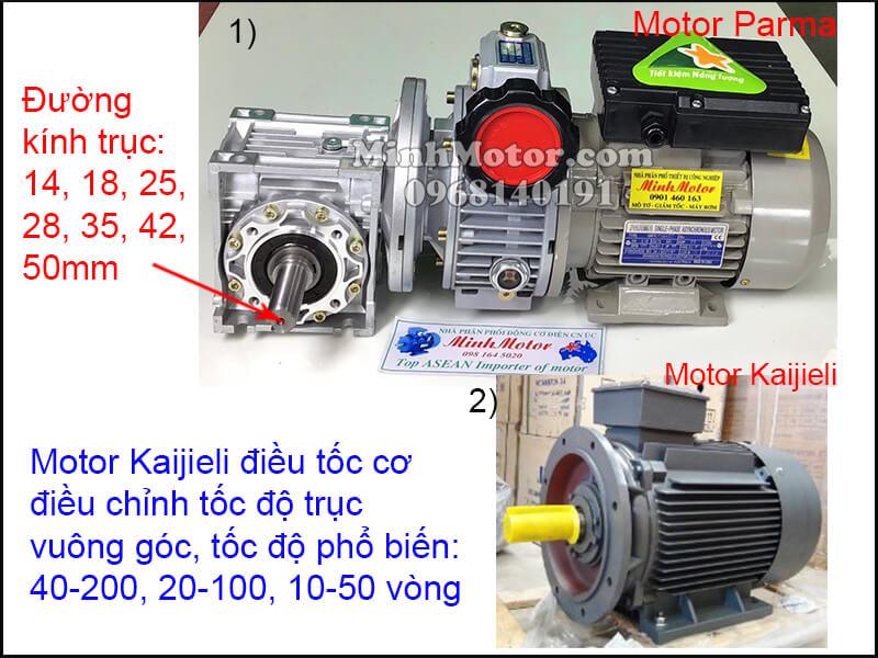 Động cơ Kaijieli mặt bích chỉnh tốc độ trục vuông góc