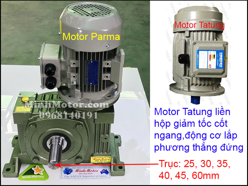 Lắp đặt động cơ Tatung3 pha 220v