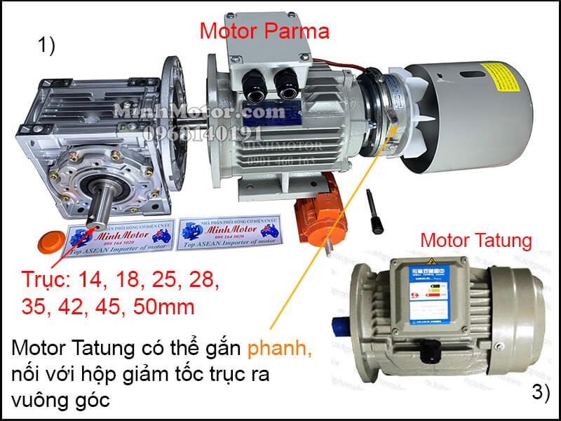 Motor Tatung lắp đặt phanh từ