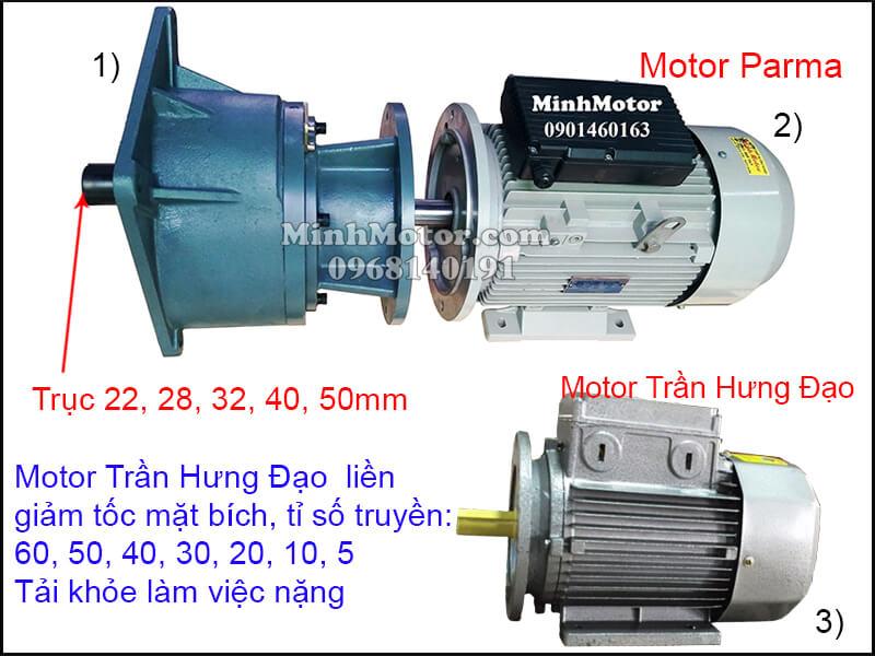 Motor Trần Hưng Đạo giảm tốc trục thẳng