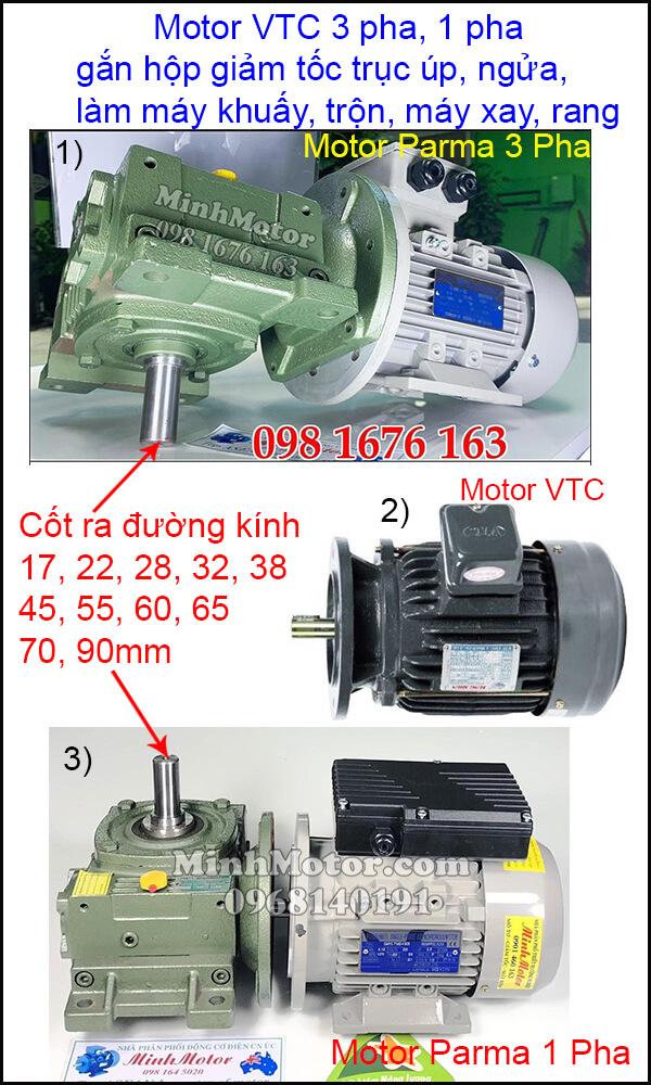 Lắp đặt động cơ VTC 3 pha 220v