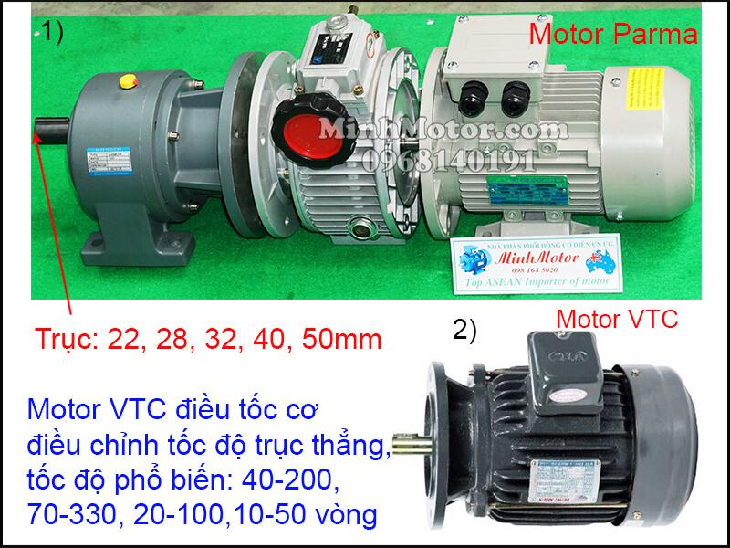Chế tạo động cơ VTC mặt bích chỉnh tốc độ