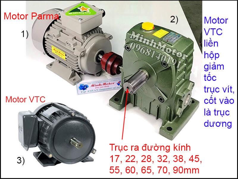 Motor VTC 3 Pha chân đế lắp đặt khớp nối