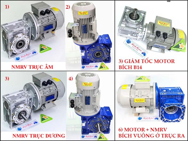 Motor điện liền giảm tốc vỏ nhôm RV