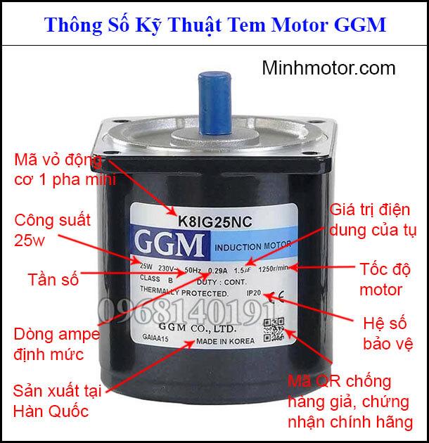 Tem Motor GGM mini AC tua chậm