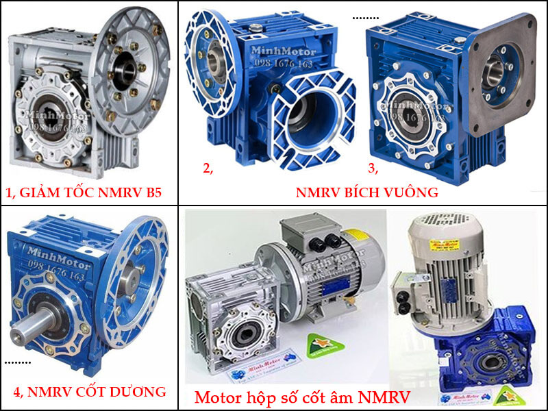 Motor giảm tốc cốt âm