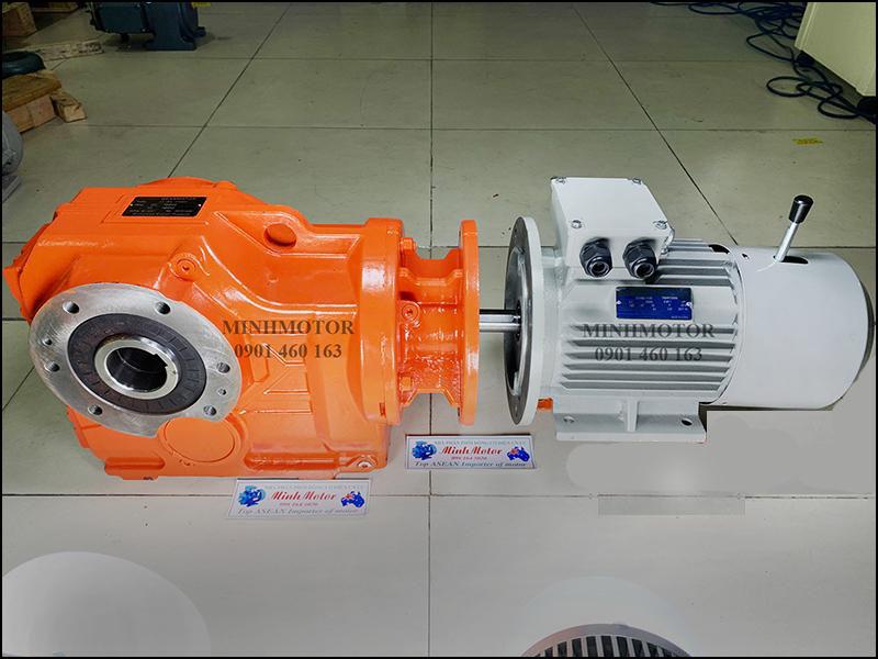 Motor giảm tốc cốt âm tải nặng K