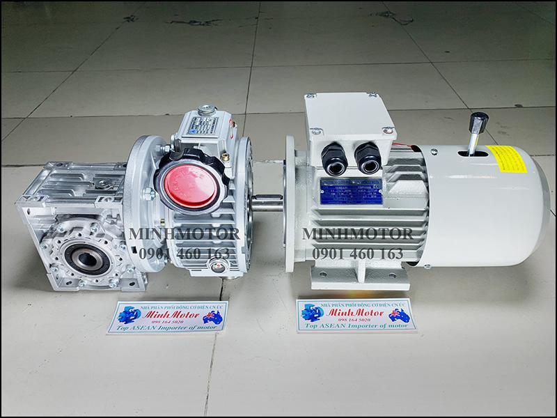 Motor giảm tốc cốt âm điều chỉnh tốc độ có thắng