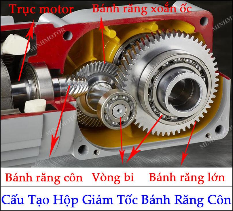 cấu tạo motor giảm tốc tải nặng