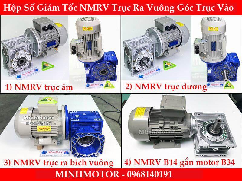 Motor giảm tốc NMRV cốt trục âm dương