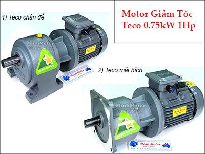 Mô tơ hộp số giảm tốc Đài Loan Teco