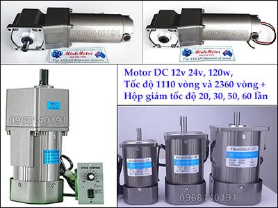 Kiểu động cơ giảm tốc DC 1 chiều mini, 12v hoặc 24v