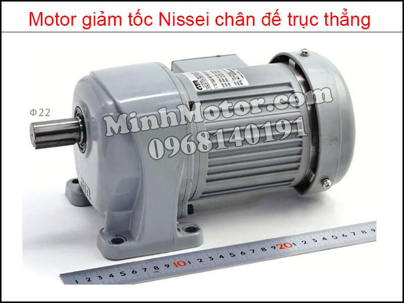 Motor giảm tốc Nissei chân đế trục thẳng