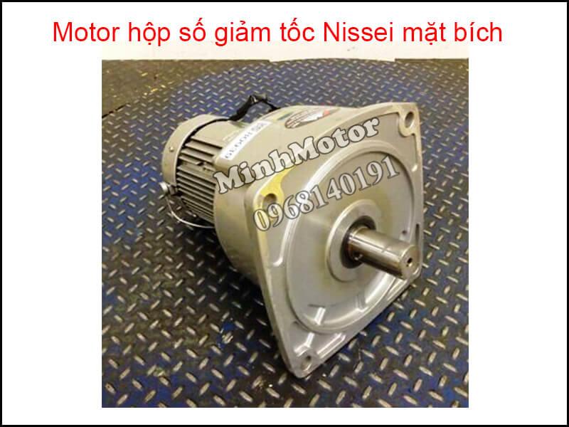 Motor hộp số giảm tốc Nissei mặt bích