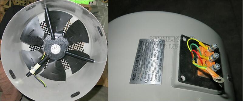 Quạt cưỡng bức tản nhiệt, chống nóng cho động cơ Parma