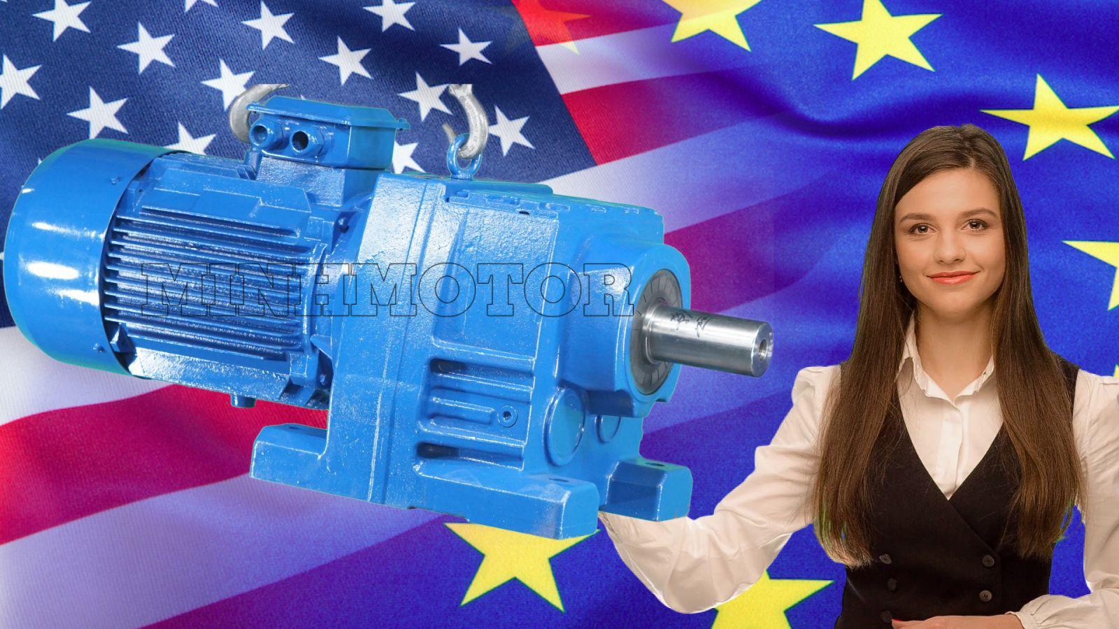 Motor Giảm Tốc 15Kw 20 HPđủ tiêu chuẩn lắp cho các nhà máy Mỹ, Canada