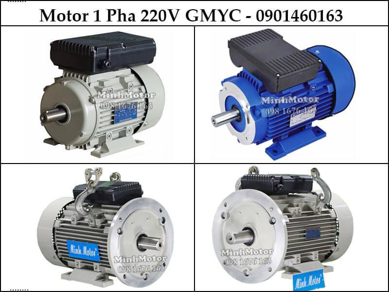 Giá Motor điện 1 pha 220v, YC, 4 cực, 1400- 1500 vòng phút tải khỏe, việc nặng