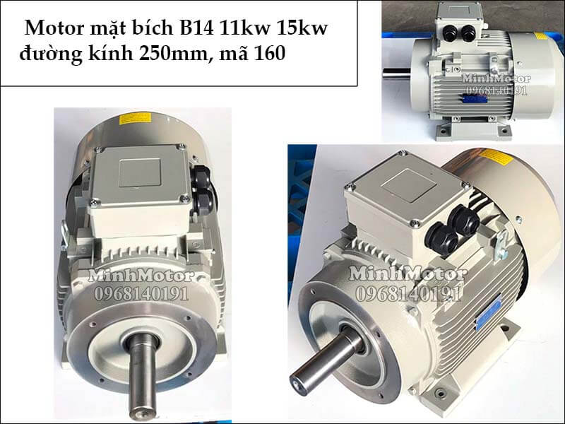 motor mặt bích B14 11kw 15kw