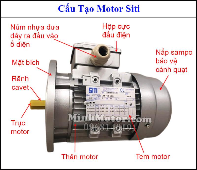 Cấu tạo motor Siti