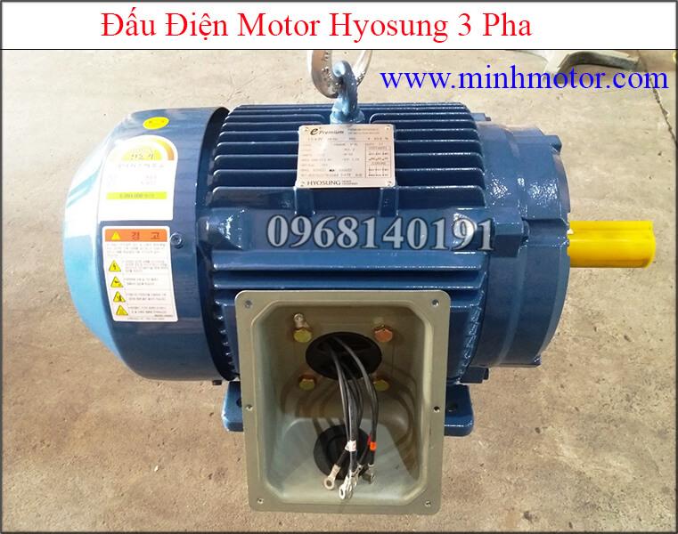 Đấu điện Motor Hyosung 3 pha