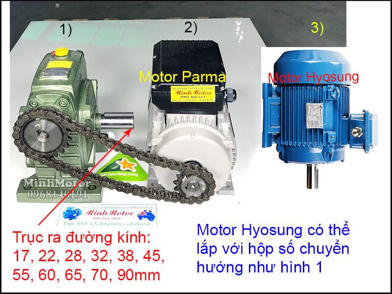 Động cơ Hyosung lắp đặt nhông xích