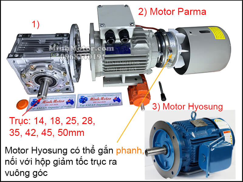 Vận hành motor Hyosung 3 pha 220v