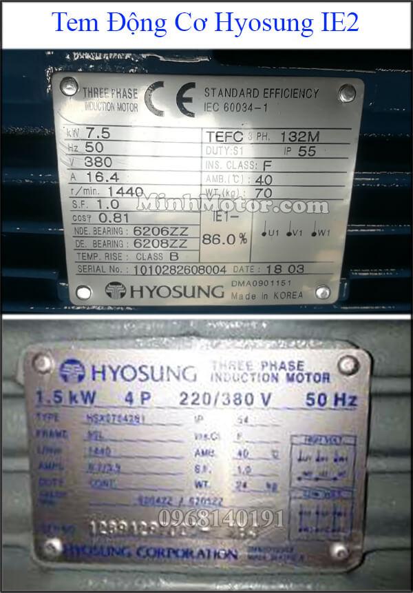 Tem động cơ Hyosung IE2 – loại phổ thông