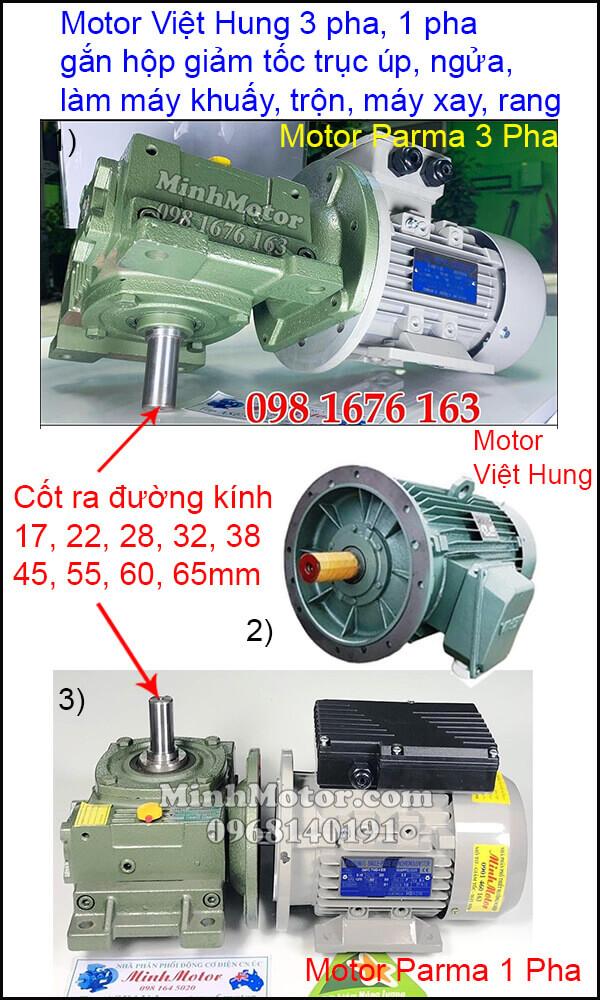 Lắp đặt động cơ Việt Hung 3 pha 220v
