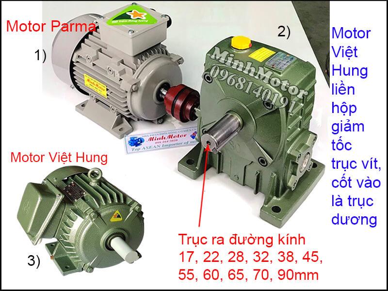 Motor Việt Hung chân đế lắp đặt bằng khớp nối